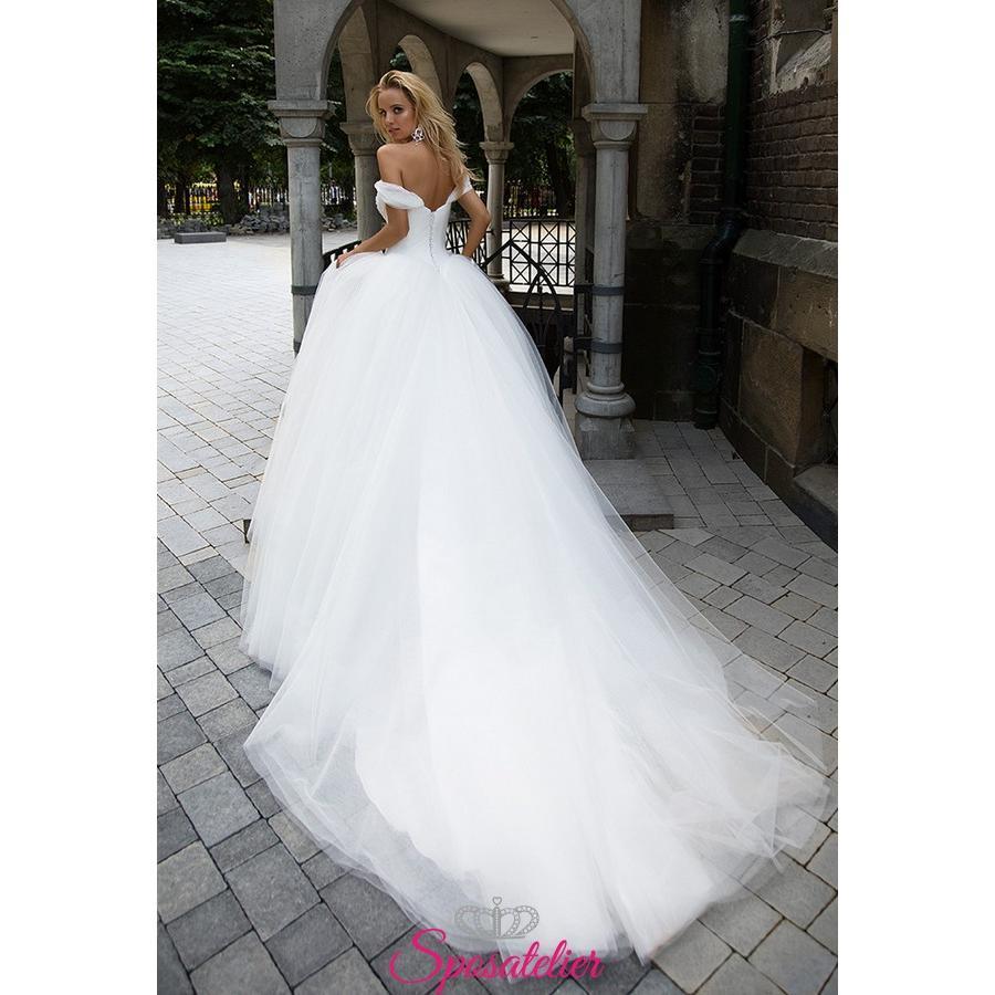 Abiti Da Sposa Economici.Wedding Dress By Pompous With Sweetheart Neckline Made In Italy